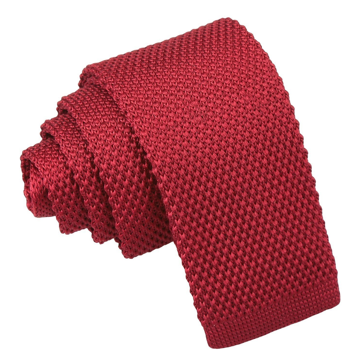 8d735918aecf Burgundy Knitted Tie for Boys