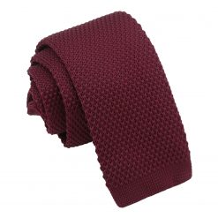 Cabernet Red Knitted Tie for Boys