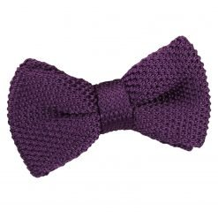 Cadbury Purple Knitted Pre-Tied Bow Tie for Boys
