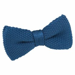 Cerulean Blue Knitted Pre-Tied Bow Tie for Boys