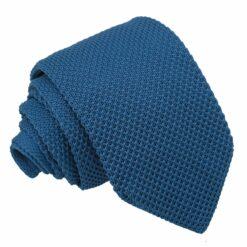 Cerulean Blue Knitted Slim Tie
