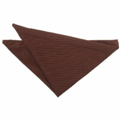 Chocolate Brown Knitted Pocket Square