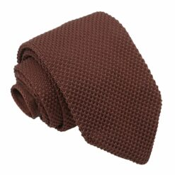 Chocolate Brown Knitted Slim Tie