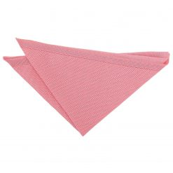 Flamingo Pink Knitted Pocket Square