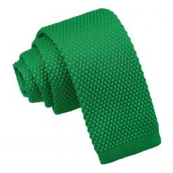 Forest Green Knitted Tie for Boys