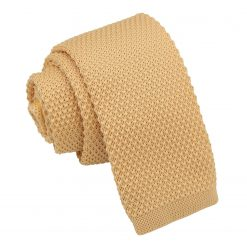 Mellow Yellow Knitted Tie for Boys