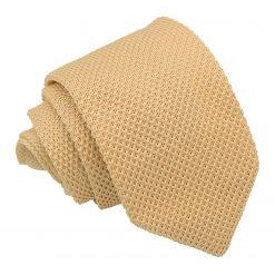 Lemon Yellow Knitted Slim Tie