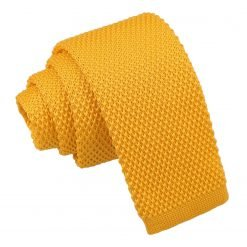 Marigold Yellow Knitted Tie for Boys