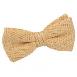 Mellow Yellow Knit Knitted Pre-Tied Bow Tie