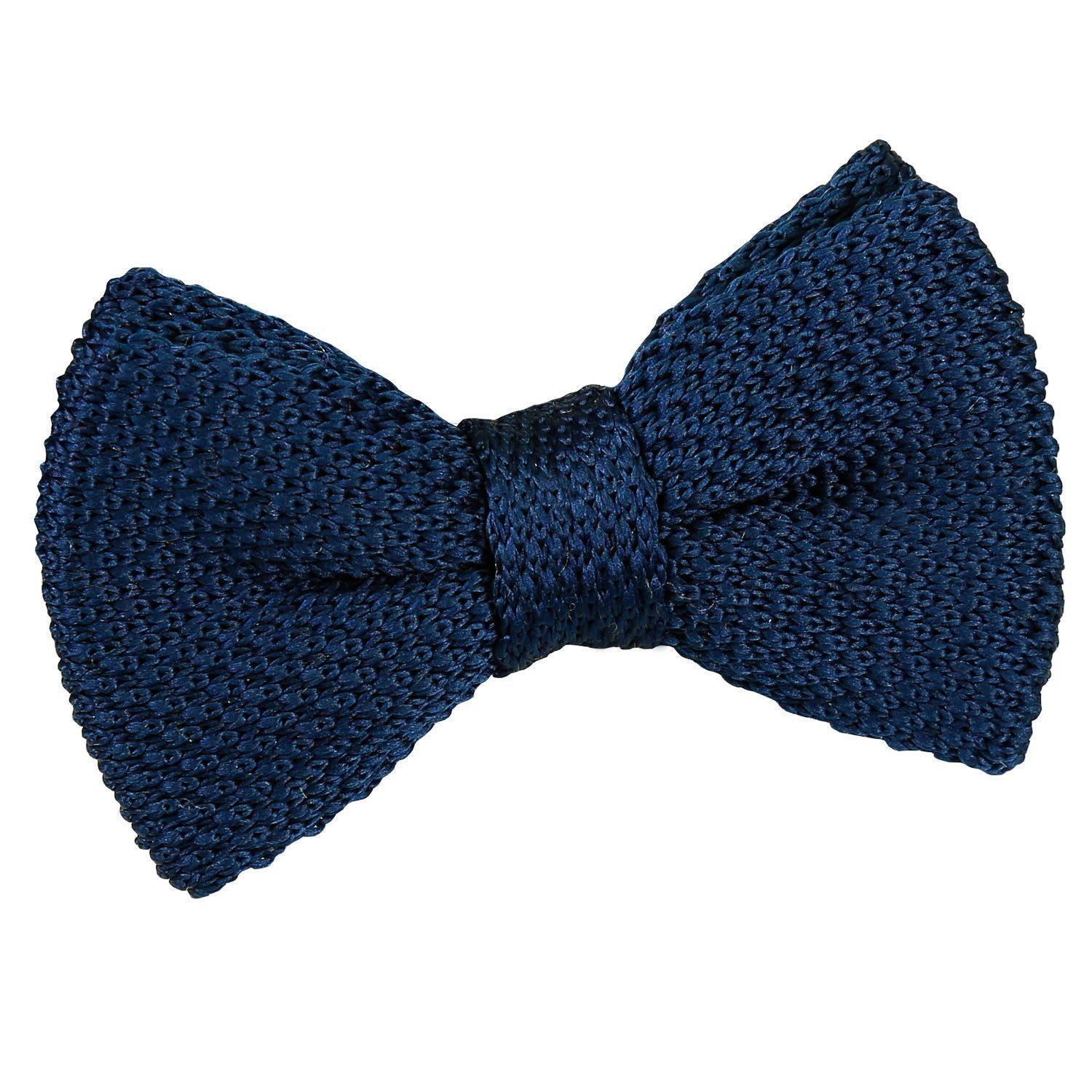 c1192bd4cd54b Navy Blue Knitted Pre-Tied Bow Tie for Boys