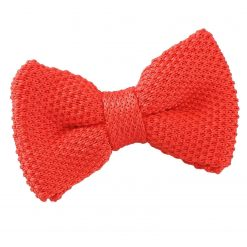 Red Knitted Pre-Tied Bow Tie for Boys