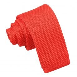 Red Knitted Tie for Boys