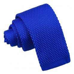 Royal Blue Knitted Tie for Boys