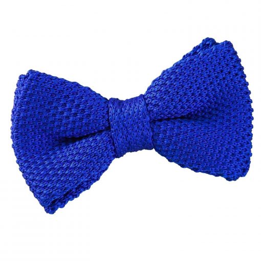 Royal Blue Knitted Pre-Tied Bow Tie for Boys