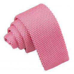 Strawberry Pink Knitted Tie for Boys