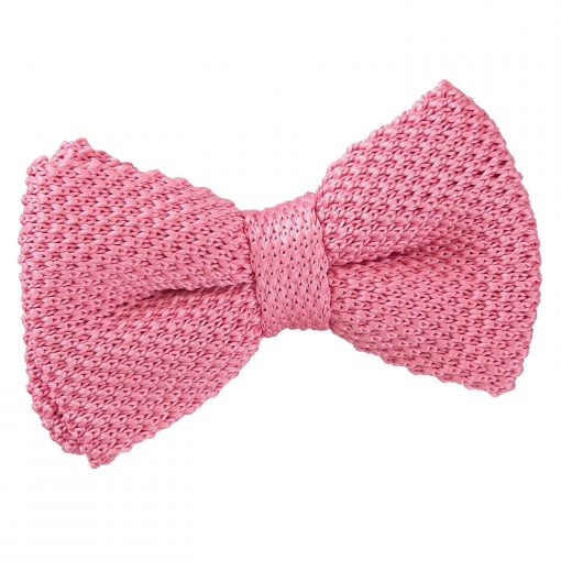 Strawberry Pink Knitted Pre-Tied Bow Tie for Boys