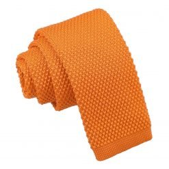 Tangerine Knitted Tie for Boys
