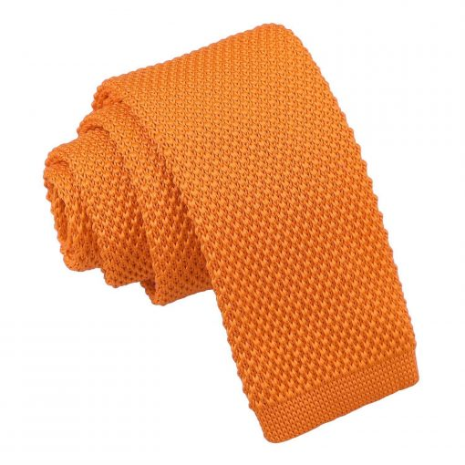 Tangerine Knitted Tie for Boys