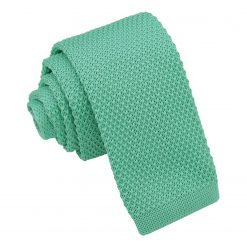 Aquamarine Green Knitted Tie for Boys