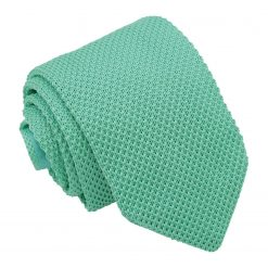 Aquamarine Green Knitted Slim Tie