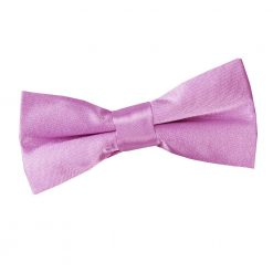 Lilac Plain Satin Pre-Tied Bow Tie for Boys