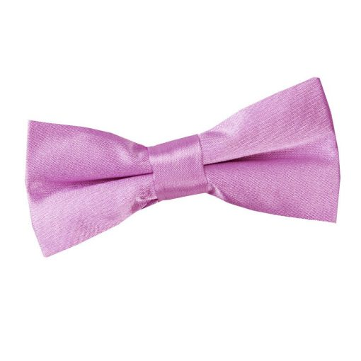 Lilac Plain Satin Pre-Tied Bow Tie for Boys