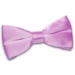 Lilac Plain Satin Pre-Tied Bow Tie