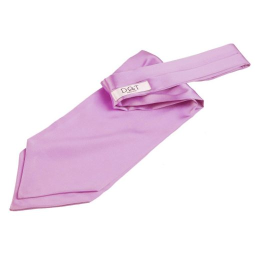 Lilac Plain Satin Self-Tie Wedding Cravat