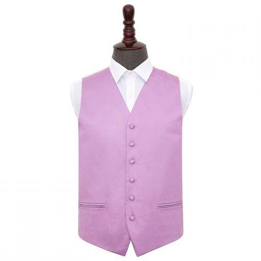 Lilac Plain Satin Wedding Waistcoat