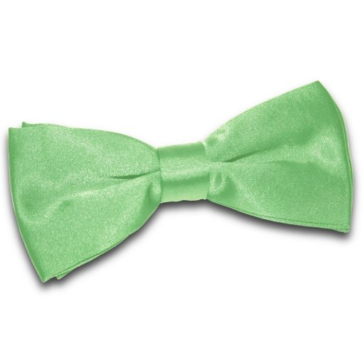Lime Green Plain Satin Pre-Tied Bow Tie