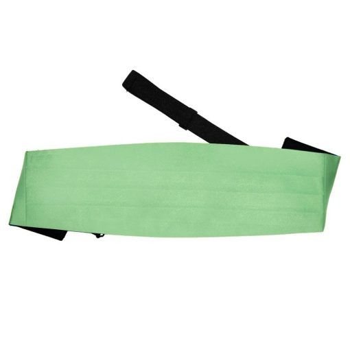 Lime Green Plain Satin Cummerbund