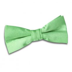Lime Green Plain Satin Pre-Tied Bow Tie for Boys