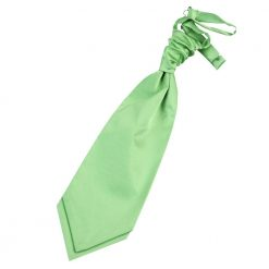 Lime Green Plain Satin Pre-Tied Wedding Cravat