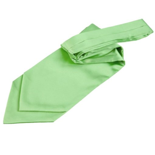 Lime Green Plain Satin Self-Tie Wedding Cravat