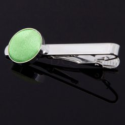 Lime Green Plain Tie Clip