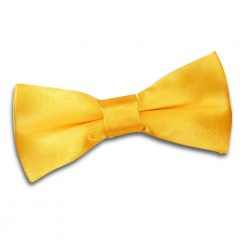 Marigold Plain Satin Pre-Tied Bow Tie for Boys