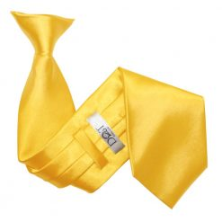 Marigold Plain Satin Clip On Tie