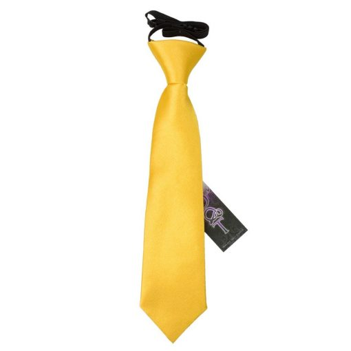 Marigold Plain Satin Elasticated Tie for Boys