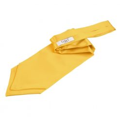 Marigold Plain Satin Self-Tie Wedding Cravat