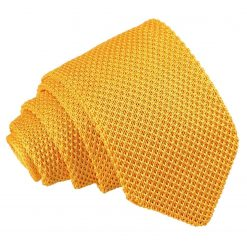 Marigold Yellow Knitted Slim Tie