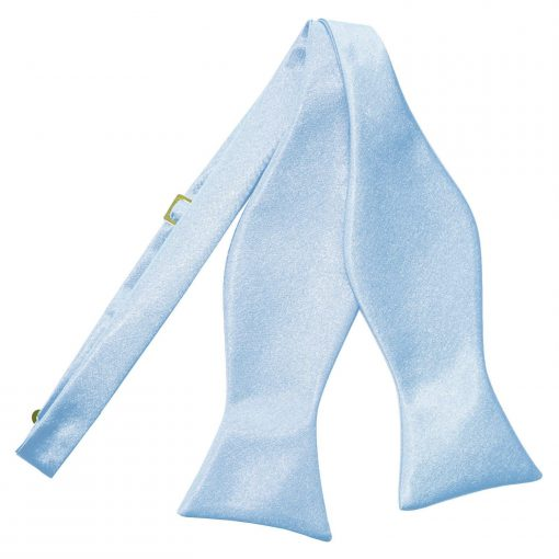 Baby Blue Plain Satin Self-Tie Bow Tie