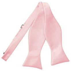 Baby Pink Plain Satin Self-Tie Bow Tie