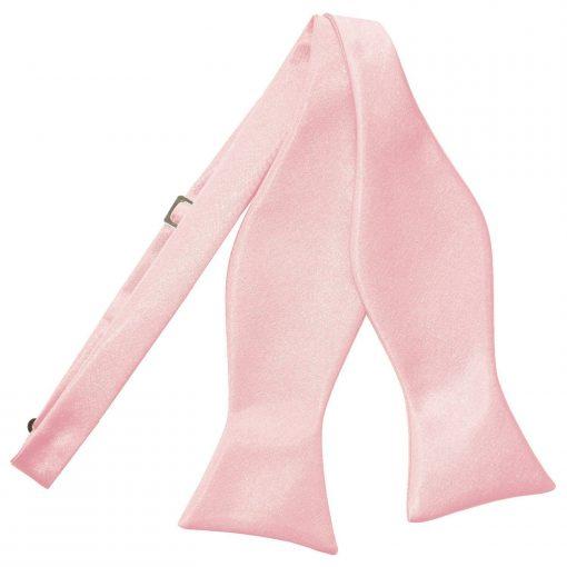 Baby Pink Plain Satin Self-Tie Bow Tie