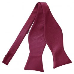 Burgundy Plain Satin Self-Tie Bow Tie