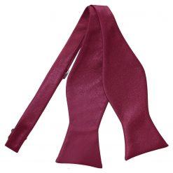 Burgundy Plain Satin Self-Tie Bow Tie