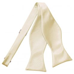 Champagne Plain Satin Self-Tie Bow Tie