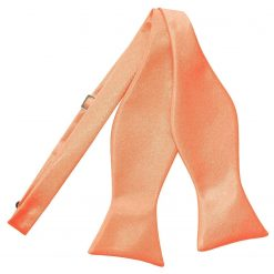 Coral Plain Satin Self-Tie Bow Tie