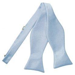 Dusty Blue Plain Satin Self-Tie Bow Tie
