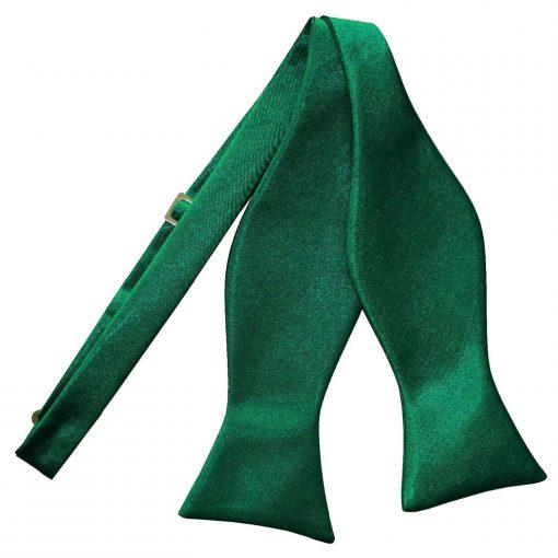 Emerald Green Plain Satin Self-Tie Bow Tie