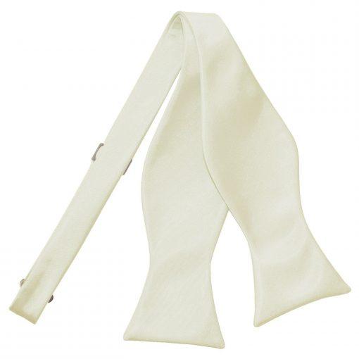 Ivory Plain Satin Self-Tie Bow Tie